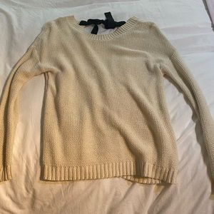 Forever 21 bow tie back sweater